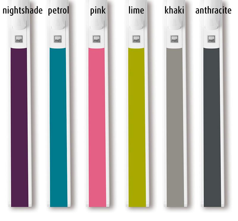 farby Trend doplnkov k stolom Champion, značka Moll